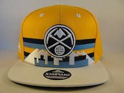 Denver Nuggets NBA Adidas Snapback Hat Cap Gold White