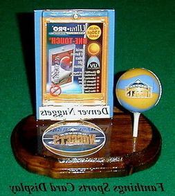 Denver Nuggets NBA Sports Card Display Holder Mini Ball Logo