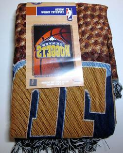 Denver Nuggets Photo Real Woven Tapestry Throw NBA The North