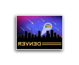 Denver Nuggets Poster City Skyline Art Print Man Cave Decor