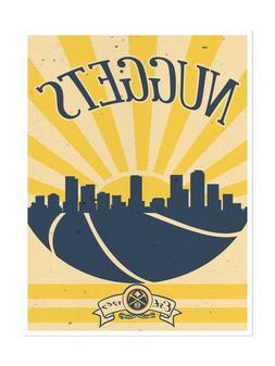Denver Nuggets Poster Sunset Design Art Print Man Cave Decor