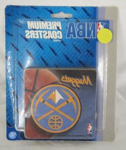 Denver Nuggets Premium Coasters Set of 10 Blue Yellow