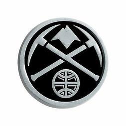 Denver Nuggets Premium Solid Metal Chrome Auto Emblem Raised