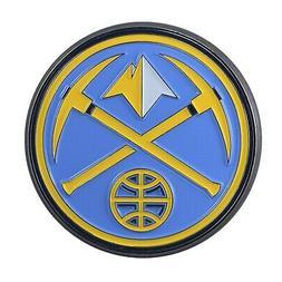 Denver Nuggets Premium Solid Metal COLOR Auto Emblem Raised