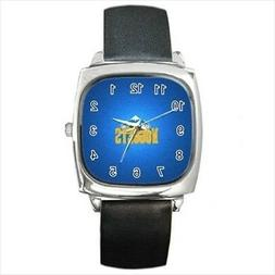 Denver Nuggets Round & Square Leather Strap Watch - Basketba