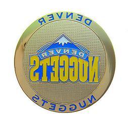 Denver Nuggets Round Metal NBA Logo Magnet