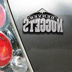 Denver Nuggets Silver Chrome Colored Raised Auto Emblem Deca