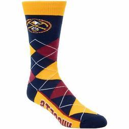 Denver Nuggets For Bare Feet Team Argyle Crew Socks