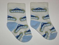 Denver Nuggets Team Logo Cotton Baby Booties - First Pair Of