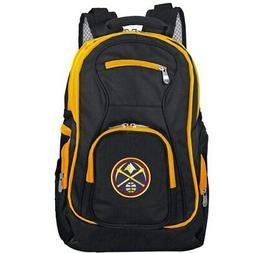 Denver Nuggets Trim Color Laptop Backpack - Black