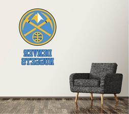 Denver Nuggets Wall Decal Logo Basketball NBA Art Sticker Vi