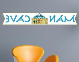 Denver Nuggets Wall NBA Logo Decal Sport Basketball Man Cave