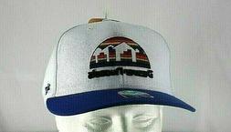 denver nuggets white blue nba baseball cap