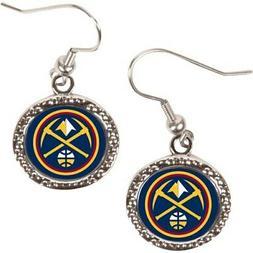 denver nuggets women s round dangle earrings