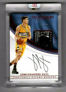 JUAN HERNANGOMEZ  2016-17 IMMACULATE COLLECTION SNEAKER SWAT