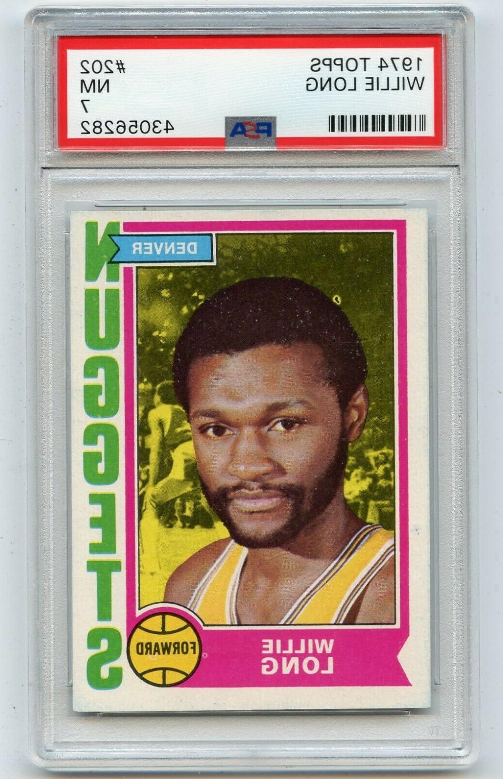 1974 75 topps basketball 202 willie long