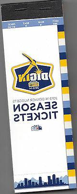 2013-14 DENVER NUGGETS SEASON TICKET BOOK UNUSED 43 TICKETS