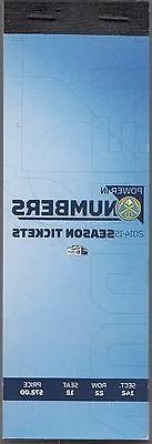 2014-15 DENVER NUGGETS SEASON TICKET BOOK UNUSED 43 TICKETS