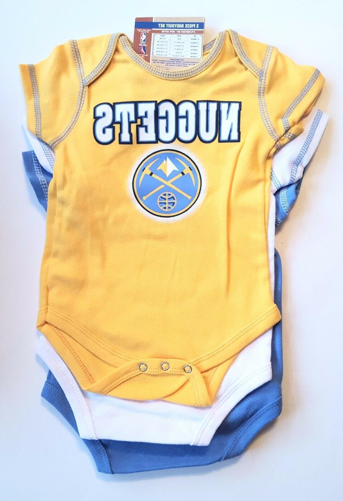 NBA Basketball Denver Nuggets Team Colors Infant Boys One-Pi