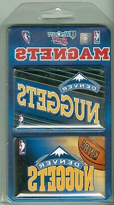 """Denver Nuggets WinCraft 2-Pack 2"""" x 3"""" Magnets"""