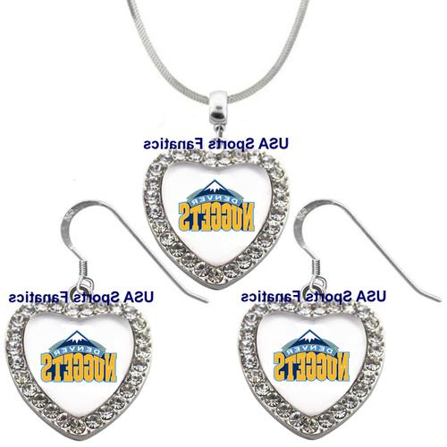 denver nuggets 925 necklace earrings or set