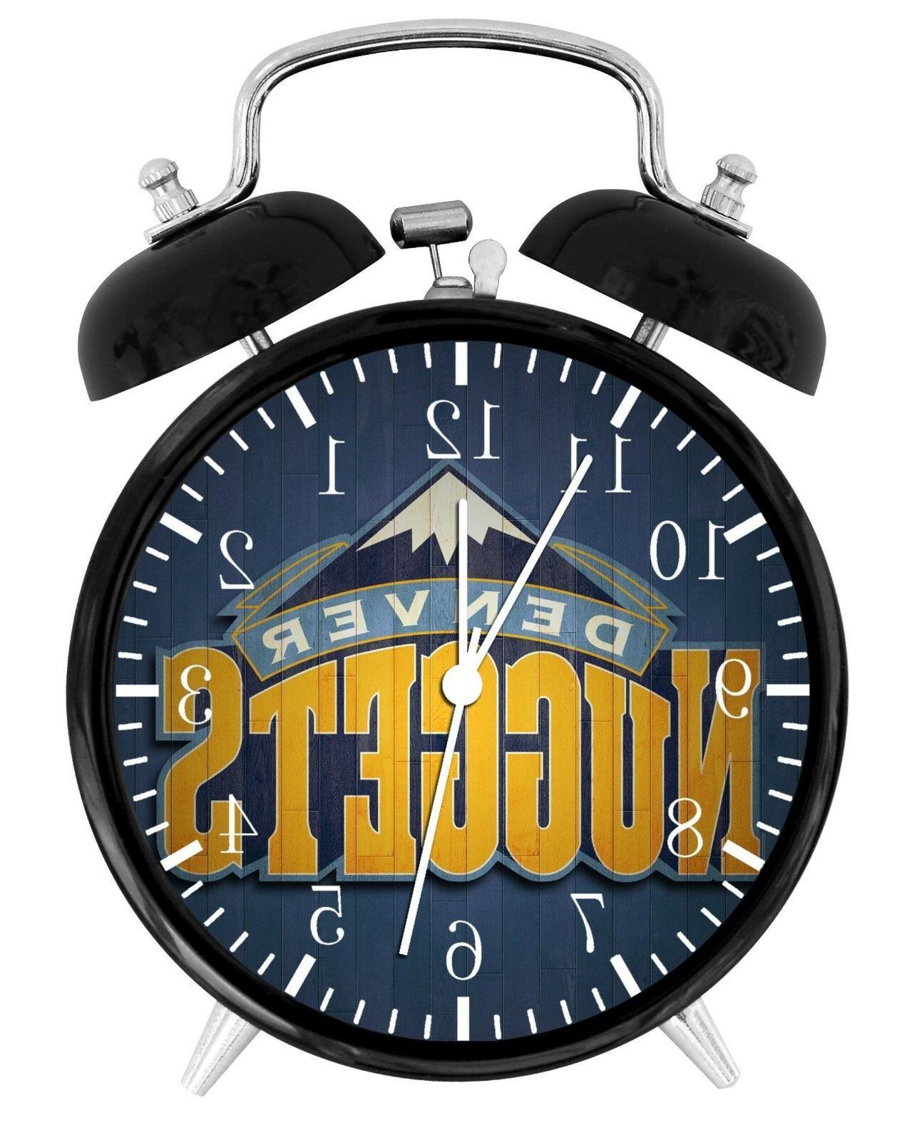 denver nuggets alarm desk clock home or