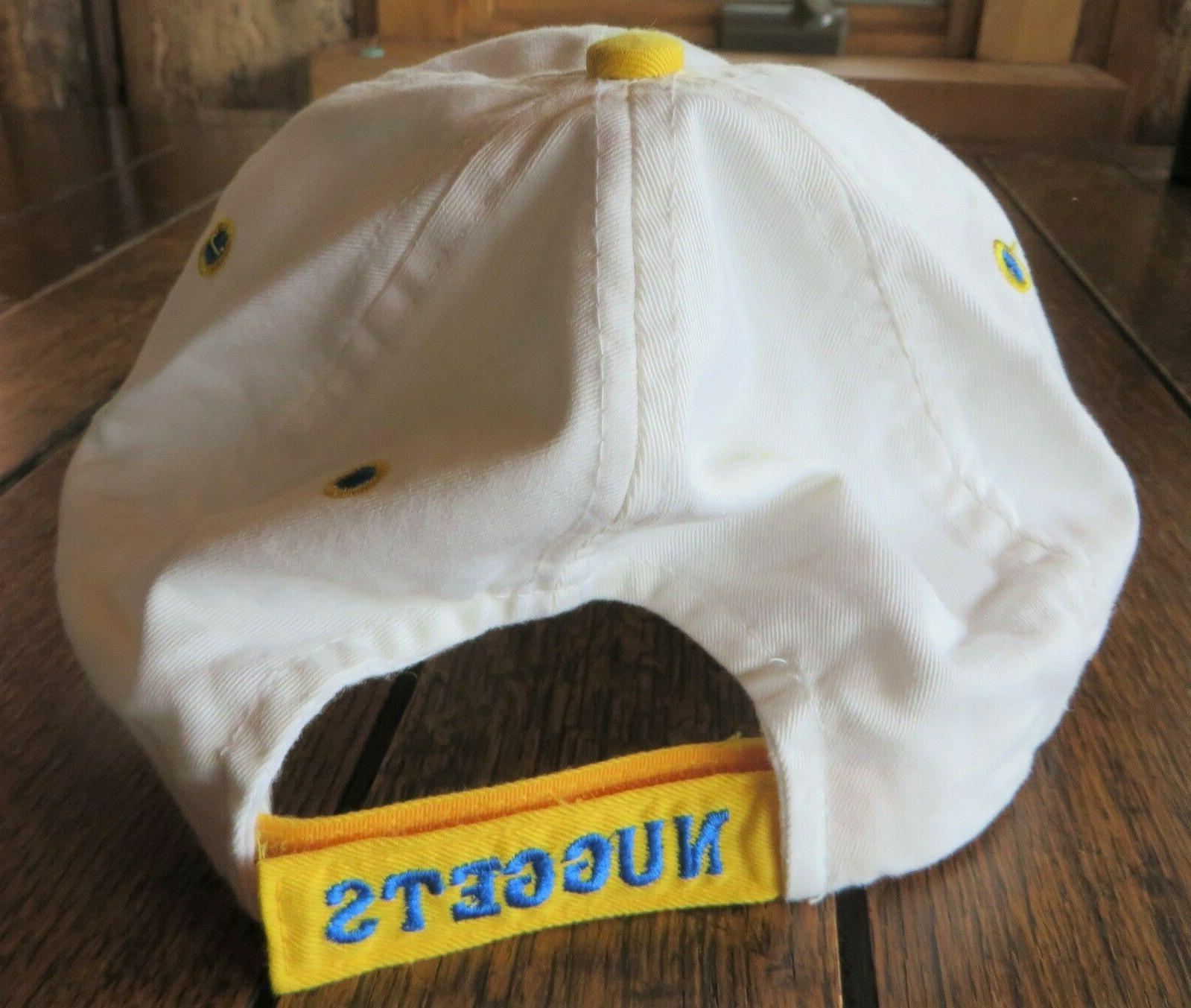 Denver Nuggets Cap White Blue Yellow Curved
