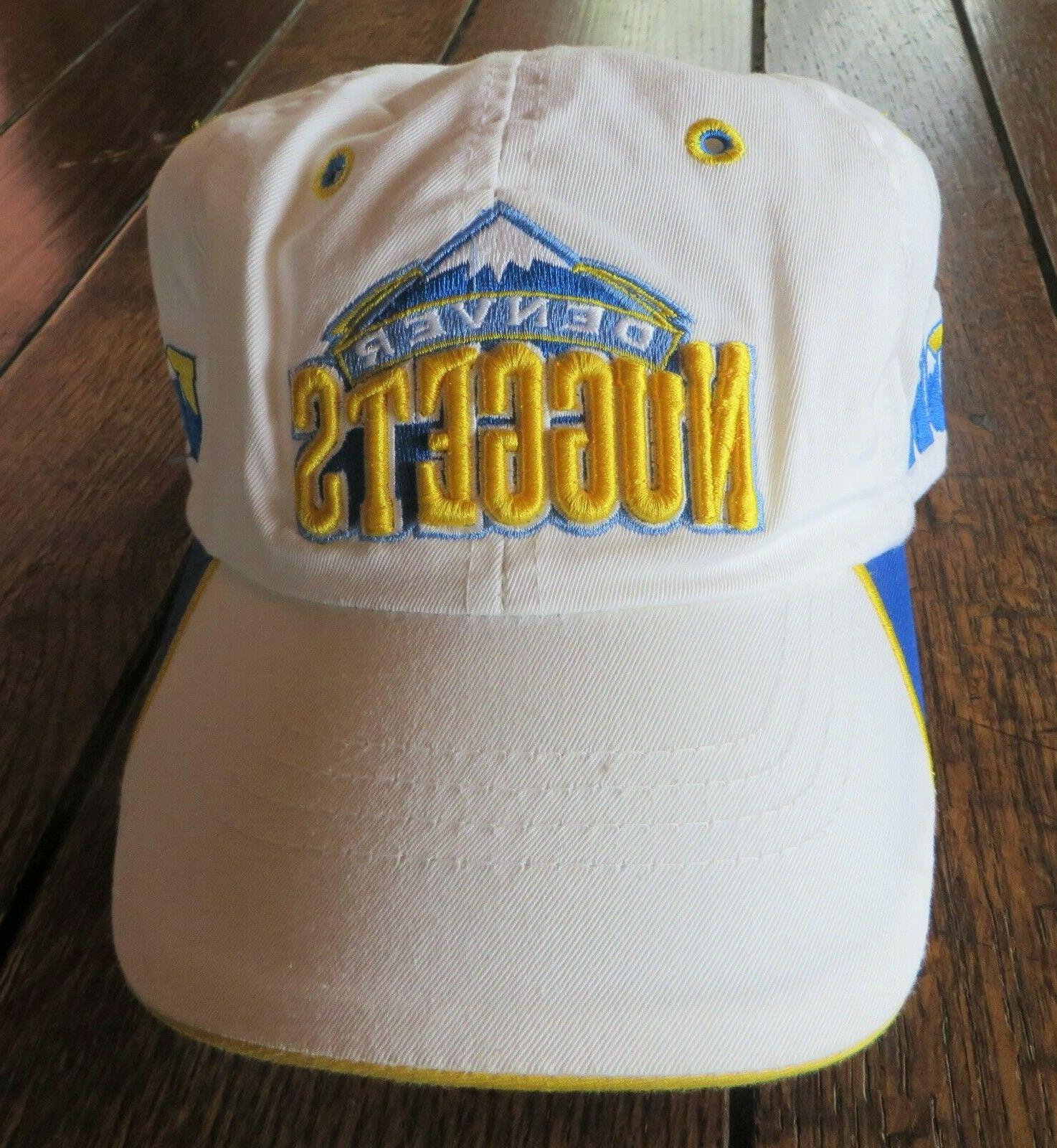 denver nuggets basketball hat cap white blue