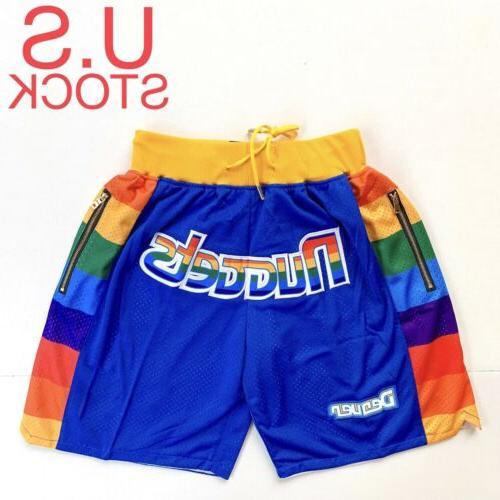denver nuggets basketball shorts vintage mens 91
