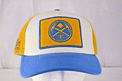 denver nuggets blue yellow white baseball cap