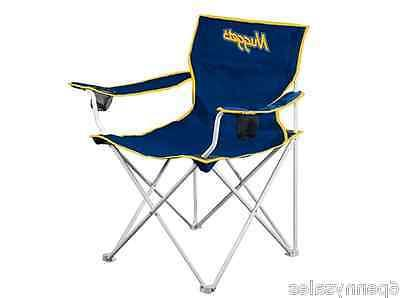 denver nuggets deluxe folding team chair tailgate