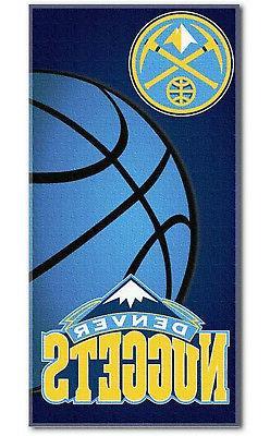 "Denver Nuggets Emblem Large 30""x60"" Beach Bath Towel NBA Bas"