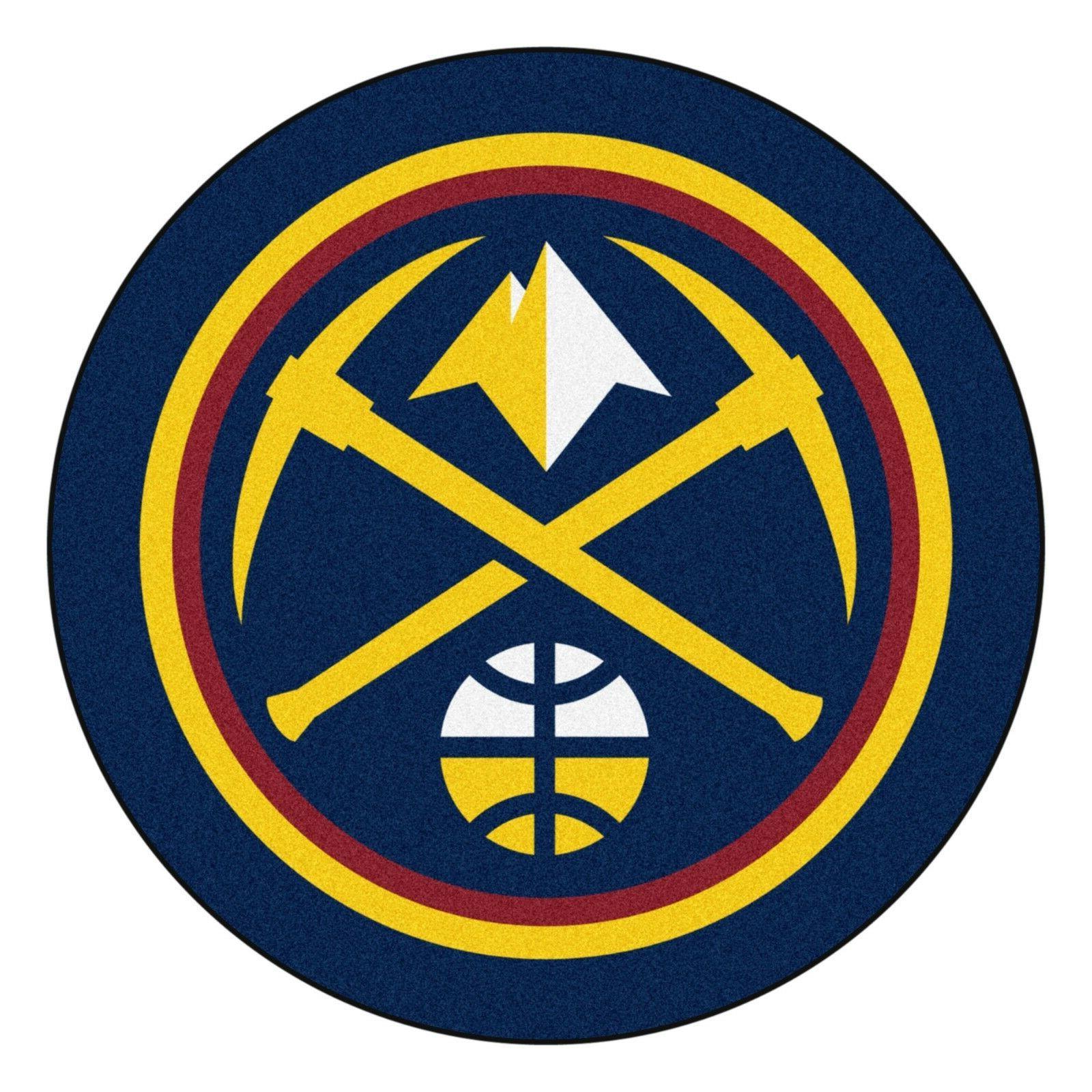 denver nuggets mascot decorative logo cut area