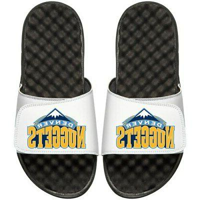 denver nuggets primary sandals white