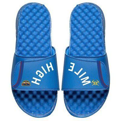denver nuggets statement jersey split slide sandals
