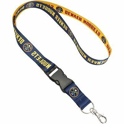 denver nuggets team lanyard with detachable buckle