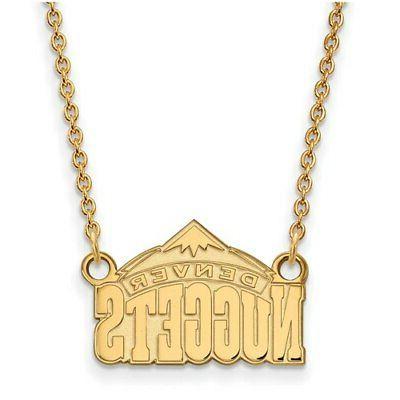 denver nuggets women s gold plated pendant