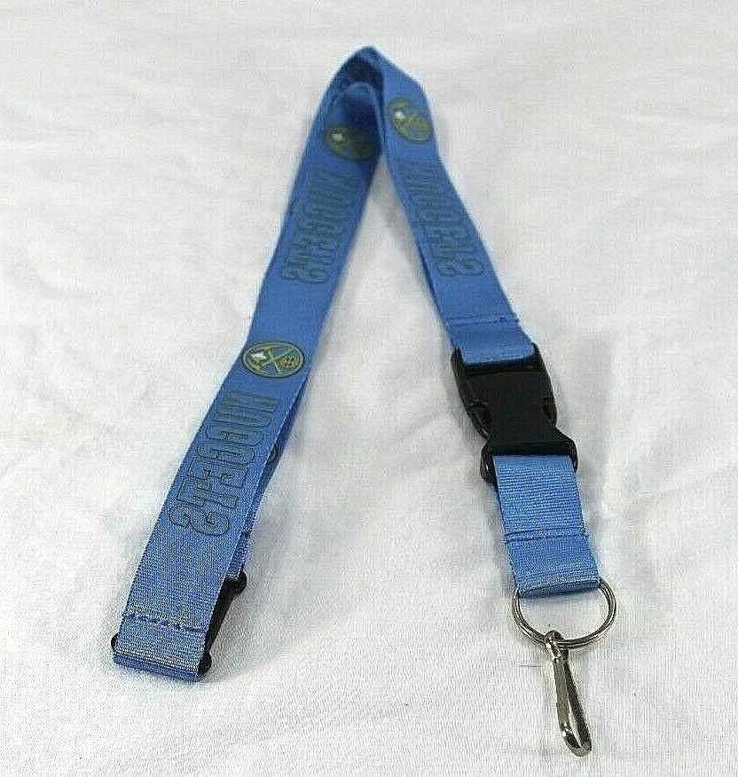nba denver nuggets light blue lanyard key