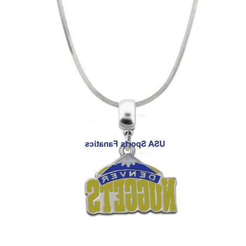 nba denver nuggets team logo pendant necklace