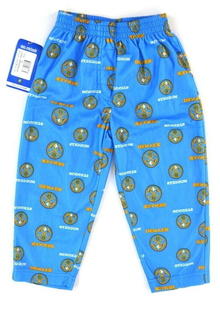 nwt blue denver nuggets fleece pajama bottoms