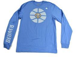 adidas Mens NBA Denver Nuggets Basketball Go To Tee Shirt Ne