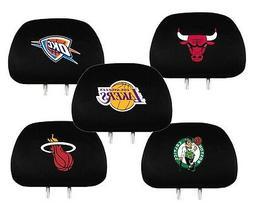 NBA Auto Head Rest Covers {Pair} Car Seat Headrest - Pick Te