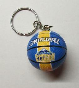 NBA Basketball Denver NUGGETS Ball KEY CHAIN Ring Keychain N