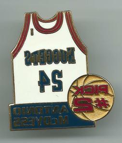 NBA Denver Nuggets Antonio McDyess #24 Rookie Jersey Pin Lim