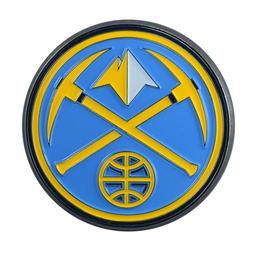 Fanmats NBA Denver Nuggets Diecast 3D Color Emblem Car Truck