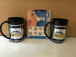 NBA Denver Nuggets Logo Tea Coffee Mug Ceramic W/ Metallic G