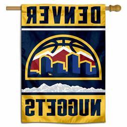 NBA Denver Nuggets New Skyline Logo House Flag and Banner