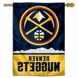 NBA Denver Nuggets Pickaxe Logo House Flag and Banner