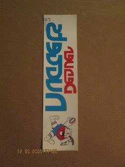 NBA Denver Nuggets Vintage Circa 1970's Team Logo Bumper Sti