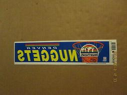 NBA Denver Nuggets Vintage Circa 1990's Team Logo Basketball